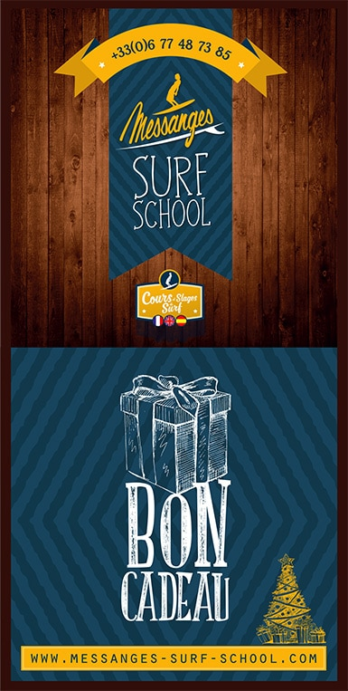 Bon cadeau -voucher Messanges Surf School