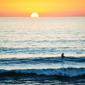 Sunset surf at Messanges
